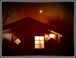 """The Retreat"" Log cabin looking EERIE in Acle, Norfolk"