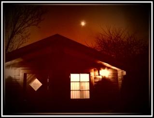 """""""The Retreat"""" Log cabin looking EERIE in Acle, Norfolk"""