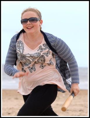 Maddie running