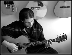 Me playing guitar in my music room