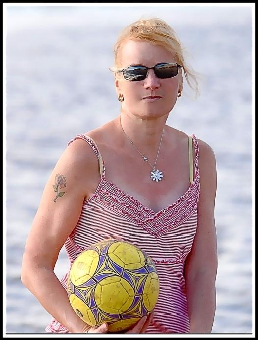 Sarah beach ball