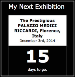 Exhibition Countdown from my blogs sidebar