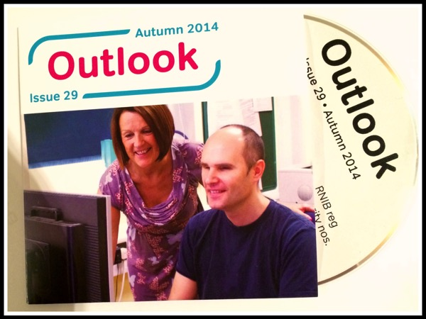 My photo being used on the Outlook CD Magazine
