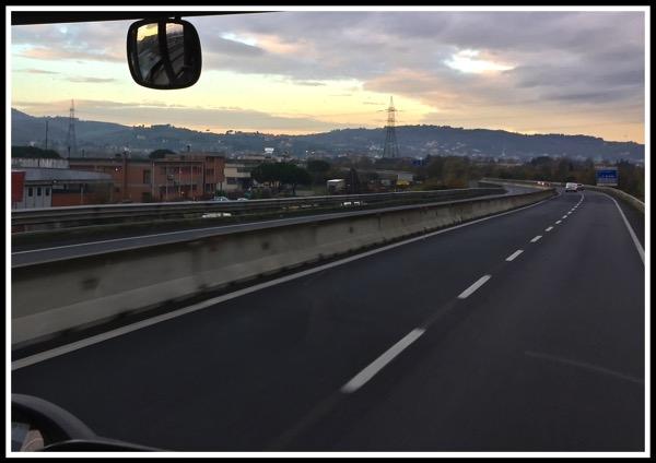 Bus ride to Pisa