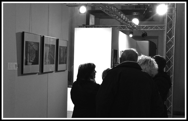 Crowd around my Photos at Art Senses