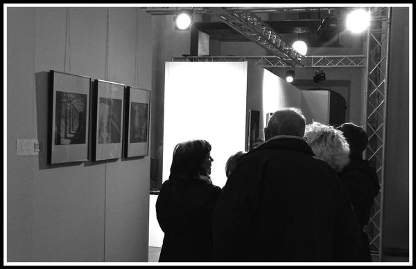 Crowd around my Photos at Art Senses