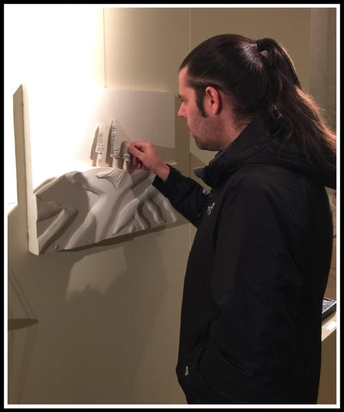 Me viewing the art