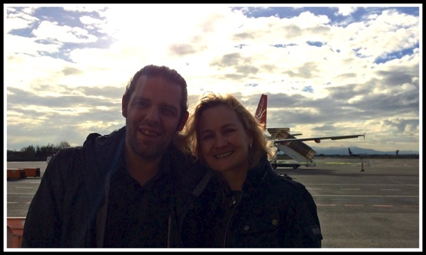 Sarah and i at Pisa airport
