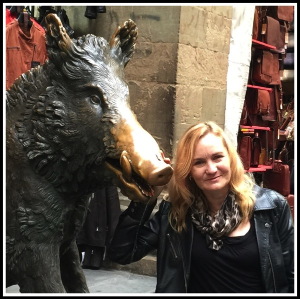 Sarah and the boar