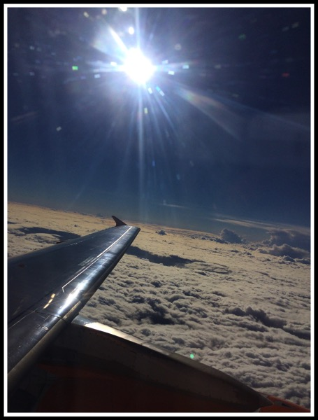 Sun from the airplane