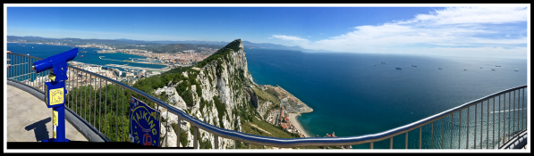 Sarah's second panorama of Gibraltar rock
