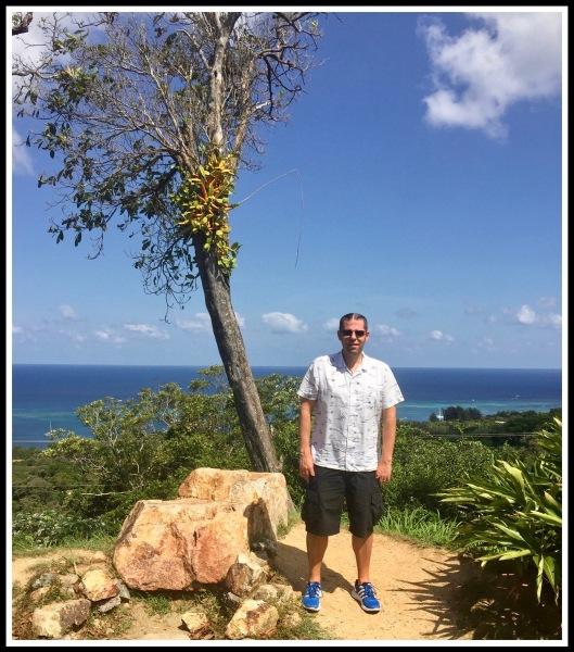 1 Roatan Me and Palm Tree