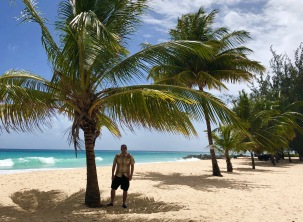 Me and the palm trees on Dover beach, Barbados April 2018