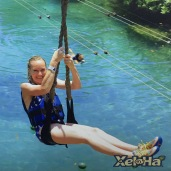 Sarah Zip Lining in Mexico April 2016
